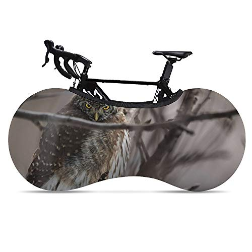 Bike Wheel Cover Owl Anti-Dust Indoor Mountain Bike Storage Bag Washable High Elastic Bicycle Scratch-Proof Protective Gear Tire Package for MTB Road Bike Keeps Floors and Walls Dirt-Free
