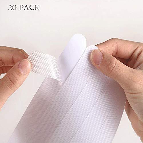 JUNSHUO 20x Antislip Stickers voor Douche/Bad, Zelfklevende Antislip Strips, Transparante Tape Plakstrip voor Badkuipen, Zwembaden, Trappen