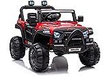 Mondial Toys Auto Elettrica 12V Baby Buggy Macchina Fuoristrada per Bambini Con Telecomando 2.4G Soft Start Full Optional Rosso