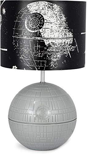 lxc Star Wars 3D-Todesstern-Desktop-LED-Lampenlicht mit gedrucktem Kampfszenenschirm