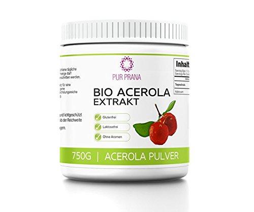Pur Prana Bio Acerola Vitamin C Pulver Superfood Acerolapulver Kirsche (750 Gr)