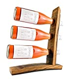 WEINKRAM Weinsegel | Handgemachter Weinhalter aus einem Rotweinfass für 3 Flaschen | Geschenkidee für Weinliebhaber | Hand-Made in Germany | Weinständer | Weinflaschenhalter | Weinregal klein