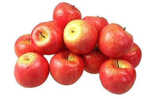 Deko Kunstobst Kunstgemüse künstliches Obst Gemüse Dekoration Apfel (rot, 15 Stück schweren Qualität)