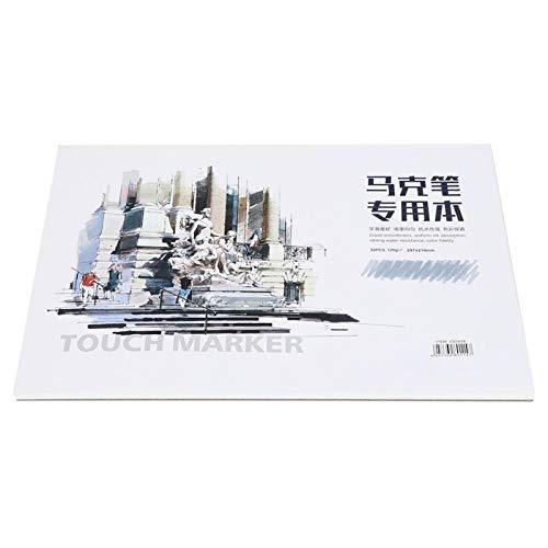 CHENGGONG Libro para Colorear, Material de Arte A4 Libro Pintado a Mano, para Estudiantes entusiastas