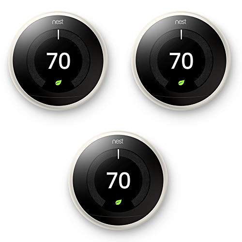 Nest Learning Thermostat 3rd Generation White 3 Pack (T3017US)