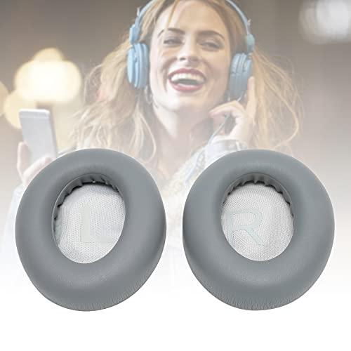Almohadillas para los oídos, esponja + Almohadillas para los oídos de cuero artificial Cubierta de repuesto para almohadillas Cómodo y suave para auriculares Piezas de repuesto para(Dark gray)