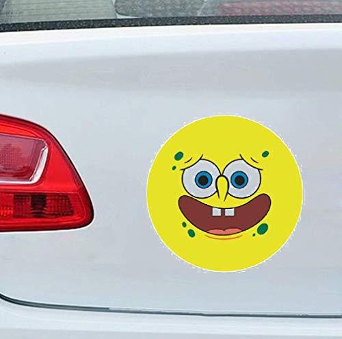 13 cm x 13 cm pour Bob l'éponge Animation européenne et américaine drôle de bande dessinée autocollant personnalisé autocollant de voiture