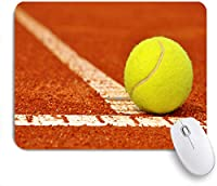 ECOMAOMI 可愛いマウスパッド テニス粘土コートのテニスボール 滑り止めゴムバッキングマウスパッドノートブックコンピュータマウスマット