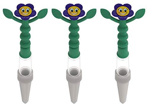 Heidi Gießanzeige, 3 Stück, blau, Gießhilfe für alle Topfpflanzen, kein Batteriebetrieb, von weitem sichtbar