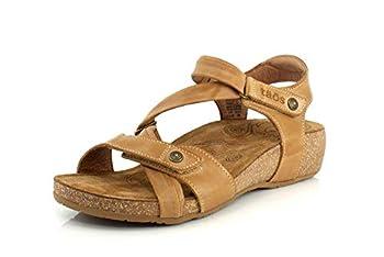 Taos Footwear Women s Universe Camel Sandal 8-8.5 M US