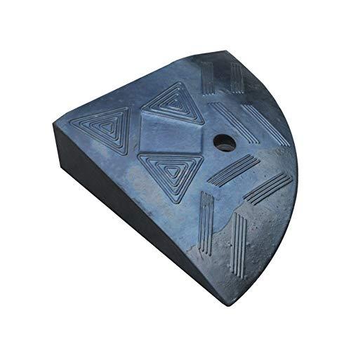 WyaengHai Ramps driehoek kussen rubberen weg hellingshoek van de helling naar een stoeprand stap pad Uphill hellingskussen pad auto deur dorpel huisdier oprijplaten, 27.5x8cm, Zwart