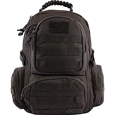 HIGHLAND TACTICAL West Black Tactical Backpack - HT-BP-41-BK