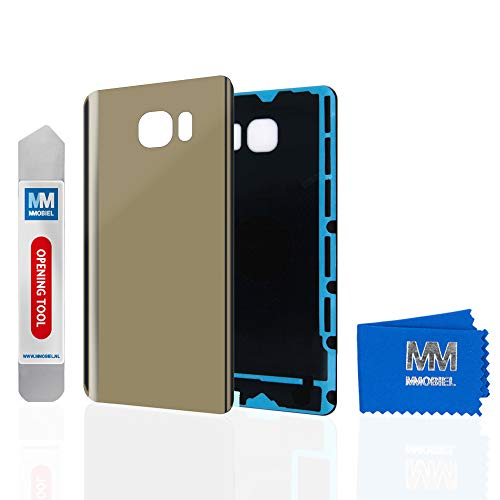 MMOBIEL Backcover Akkudeckel Rückseite Rück Klappe kompatibel mit Samsung Galaxy Note 5 5.7 inch N920 (Gold Platinum)