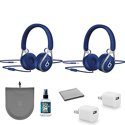 Beats by Dr. Dre Beats EP On-Ear Headphones (Blue) (2 Pack) ML9D2LL/A with Headphone Cleaner + More