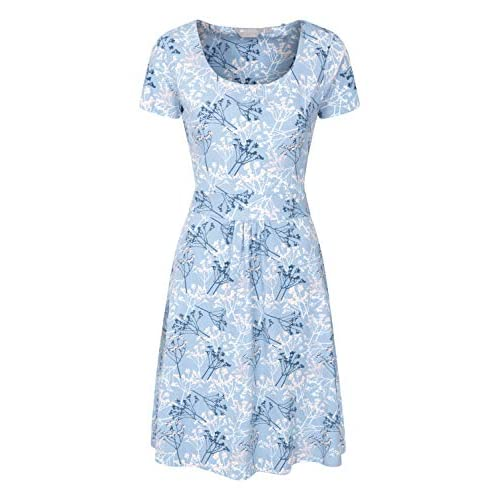 Mountain Warehouse Orchid Patterned Womens UV Dress – UPF50 Beach Dress, Lightweight Ladies Summer Dress, Pockets, Durable Day Dress – for Spring, Travelling, Poolside