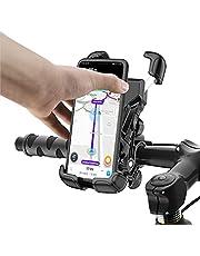 """Tryone Soporte Movil Bicicleta,Soporte Moto - Anti Vibración Soporte Movil Moto Bicicleta con 360° Rotación para iPhone 12, 11 Pro, Xs Max, X, 8, 7, 6S, Samsung S10 S9 S8, y Otros Móviles de 4.7""""-6.8"""""""