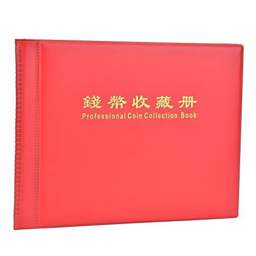 Álbum de monedas, hojas de almacenamiento de 10 páginas con 240 bolsillos...