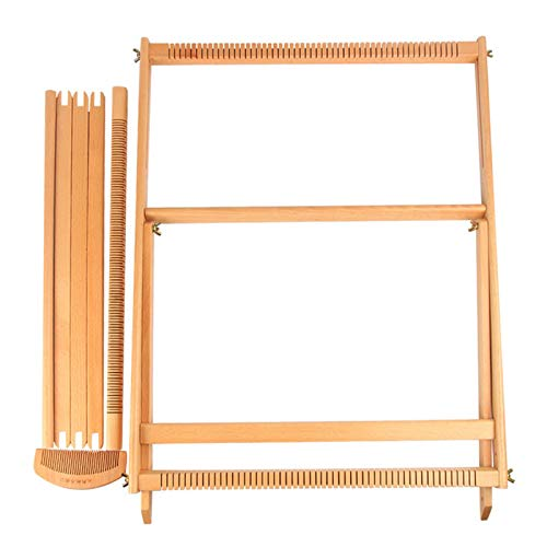 Sue-Supply DIY Textil Nähen Werkzeug Holzwebrahmen Webmaschine Kit Holzkettwebstuhl Handstricken DIY Kreativität Webrahmen Webstuhl, Textil Nähwerkzeug, für Schal, Wanddecke, Kissenbezug