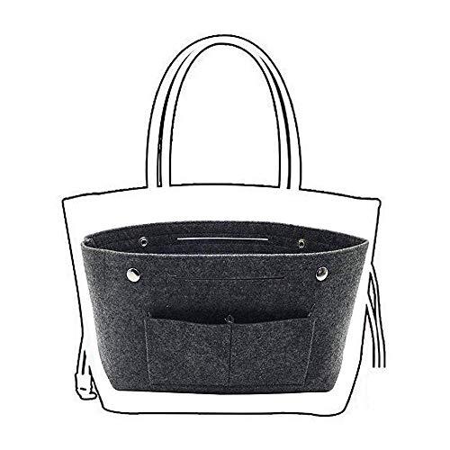 Tonsee Taschenorganizer Make-up Tasche Organisator für Frauen Handtaschen, Filz Taschenorganizer Bag in Bag Handtaschenordner Organizer für Handtaschen Bag in Bag (Grau)