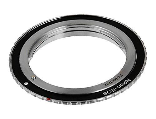Fotodiox - Adaptador de Montura de Objetivo Compatible con Nikon Nikkor F Mount D/SLR para Canon EOS (EF, EF-S) con Cuerpo de cámara D/SLR con Chip de confirmación de Enfoque Gen10