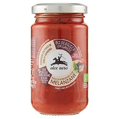 ALCE NERO Sos pomidorowy z grillowanym bakłażanem bio (200g)
