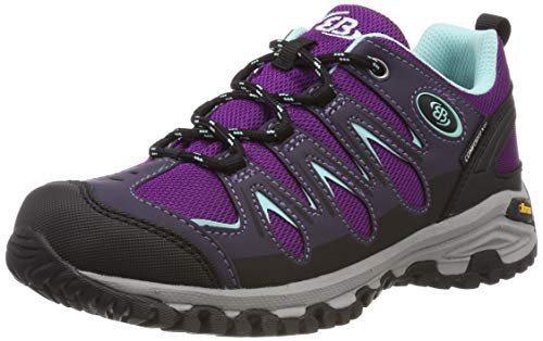 Brütting Damen Expedition Walkingschuhe, Violett (Lila/Schwarz/Türkis Lila/Schwarz/Türkis), 36 EU