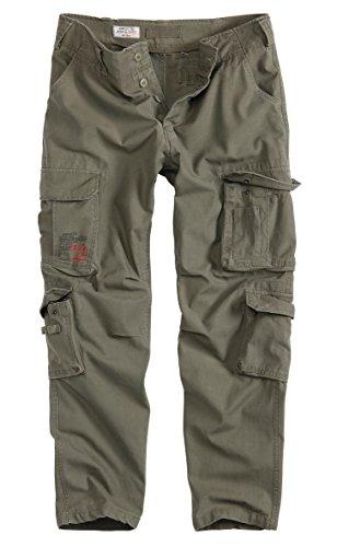 Surplus Raw Vintage Airborne Slimmy Herren Cargo Vintage Hose, Oliv, XL