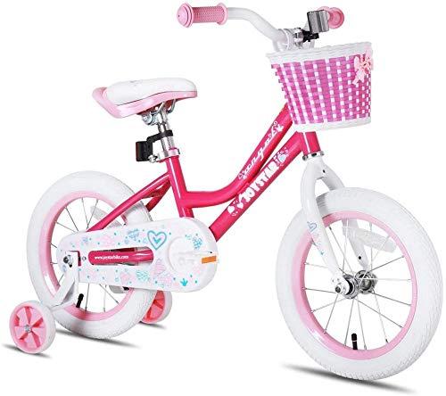 SXCY Bicicleta para niñas con Ruedas de Entrenamiento para 14 Bicicletas para niños con pie de Apoyo para 18 Bicicletas para niños y Freno de montaña 0603