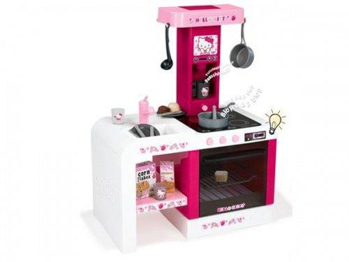 Smoby - Roleplay - Elektronische Hello Kitty Mini-Küche Cheftronic mit Zubehör