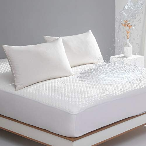 King Size Bed Waterproof Bamboo Mattress Protector Cooling Fitted Mattress Pad Cover with Deep product image