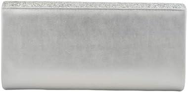Partytasche Perlmutt glänzend Silber