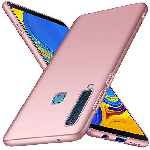ORNARTO Hülle für Samsung Galaxy A9(2018),A9 Ultra Dünn Schlank Stoßfest, Anti-Scratch FeinMatt Einfach Handyhülle Abdeckung Stoßstange Hardcase für Samsung Galaxy A9(2018) 6,3 Zoll Rose Gold