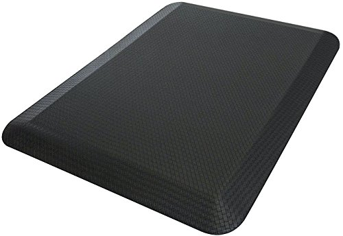Sorbus Anti Fatigue Mat - Comfort Standing Mat Kitchen Rug - Perfect for Kitchen and Standing Office Desk (24 in x 18 in, Black)