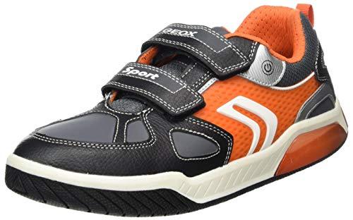 Geox J Inek Boy B, Zapatillas Niños, Negro (Black/Orange), 29 EU