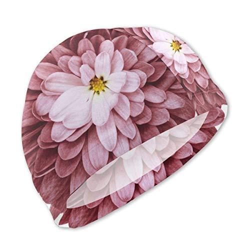 Quintion Robeson Bordo Flor crisantemo Gorro de baño para niños, Gorro de natación de poliéster Personalizado SMC-103