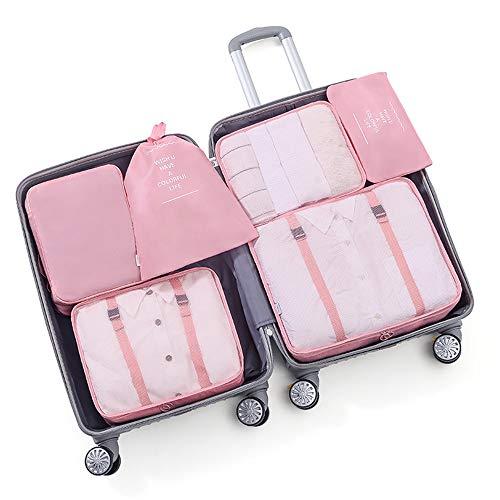 Raybre Art Packing Cubes Organizer per Bagagli Borsa per Valigia a Compressione da Viaggio