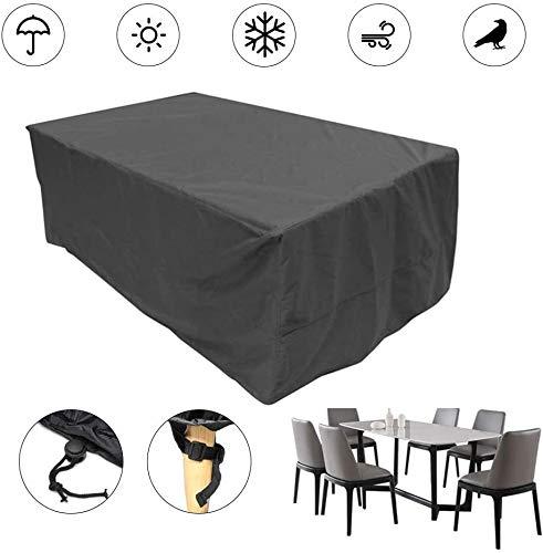 ZWR Oxford Cubierta for Muebles de jardín, Caja Protectora contra los Rayos UV Resistente al Agua Polvo de Densidad for Muebles de jardín Asientos Juegos de Muebles, Oxford Transpirable