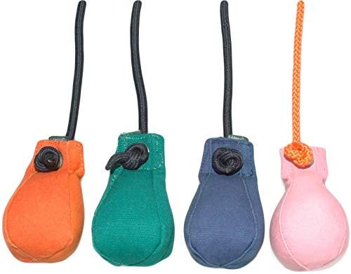 Dummyball 150g | Robustes Materiel | Schwimmfähig | Extra langes Wurfseil | Ideal für das Apportiertraining | Schult die Such- und Markierfähigkeit (orange)