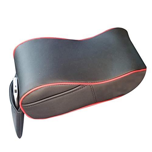 NASDIZL Car Central Console Armrest Box Soft Heighten Pad Cushion with Pocket Car Armrest Box Pad