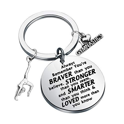 Gymnast Gift Gymnastics Keychain Inspiration Girls Gymnastics Gift for Gymnast Jewelry Gymnastics Team Gifts (keychain)