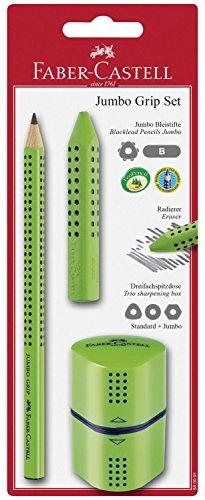 Faber-Castell 580091 - Jumbo Grip Set, 3-teilig, hellgrün