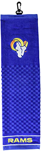 Team Golf NFL New England Patriots Embroidered Golf Towel, Checkered Scrubber Design, Embroidered Logo
