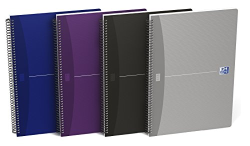 Oxford Essentials 100430139 - Pack de 5 cuadernos espiral, tapa blanda, 4º