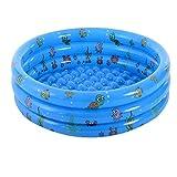 Budstfee Piscina Inflable Portátil 100 cm 3-Anillo Kiddie Bañera Inflable con Azul 1pc