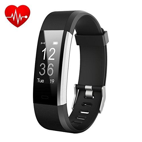 HETP Montre Connectée, Bracelet Connectée Fitness Tracker d'Activité Cardiofréquencemètre Etanche IP67 Smartwatch Cardio Podomètre Sport Smart Watch Band Bluetooth pour Femme Homme Enfant