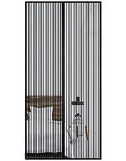 Magnetische Vliegengordijn Hordeur Gaasgordijn 105X200cm Magnetisch Vliegengaas Magnetisch Muggenschermen voor Balkon Schuifdeuren Woonkamer Vliegendeur,Zwart