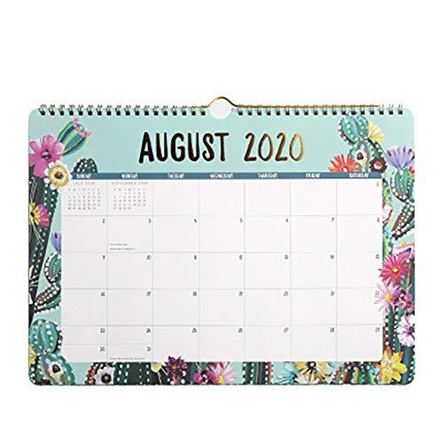 Calendario de Escritorio 2021, Calendario 2021, Va Desde Enero de 2021 A Diciembre de 2021 para Escribir Y Apuntar 34.8cm x 25cm