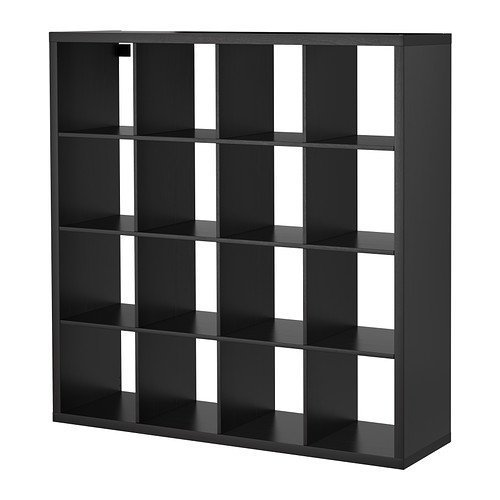 IKEA KALLAX - Regal, schwarz-braun - 147x147 cm