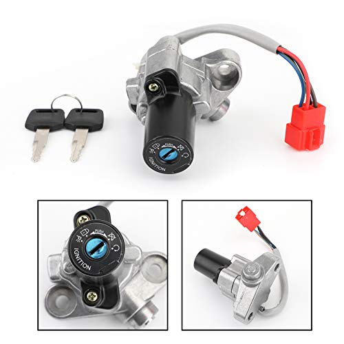 Topteng Ignition Switch Lock Fuel Gas Cap Key for Yamaha V-STAR VSTAR 650 1100 99-16 4TR-82501-01