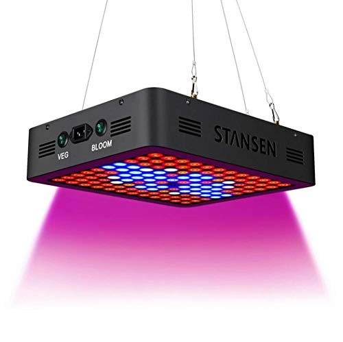 LED Grow Light, dubbele 10 W chips LED-lamp, Full Spectrum LED-groeilicht, 120 LED's, fabriekslamp, UV- en IR-lamp, voor kamerplanten, groenten en bloemen